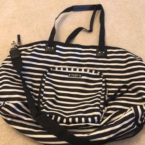 Kate Spade striped Nylon travel bag